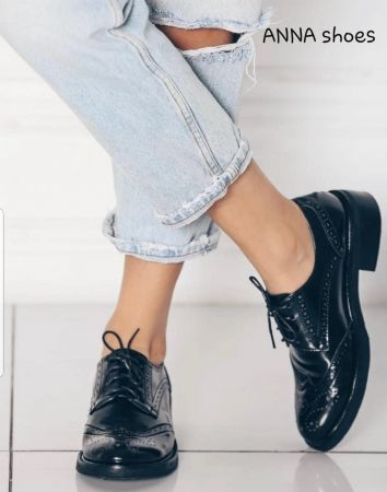 ANNA shoes Leather Oxford