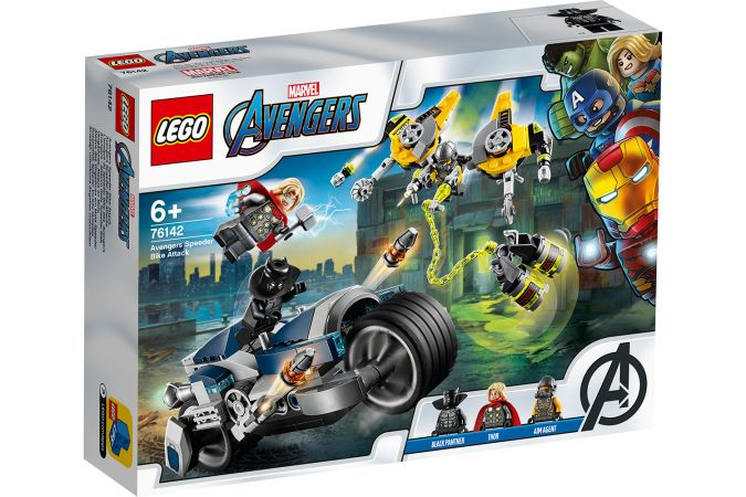A toy LEGO MARVEL AVENGERS - Speeder Bike Attack