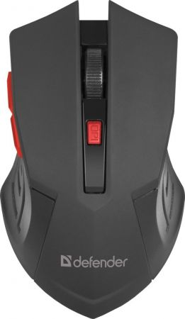 Mouse Defender MM-275 Wireless Black, Red
