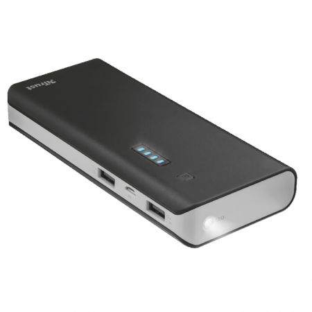 Portable Charger Trust Primo Powerbank 13 000 mAh Black