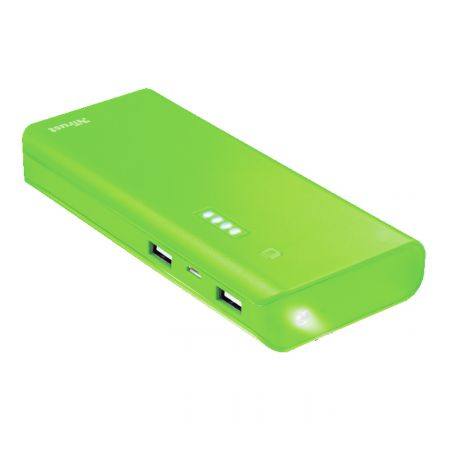 Portable Charger Trust Primo Powerbank 10 000 mAh Green