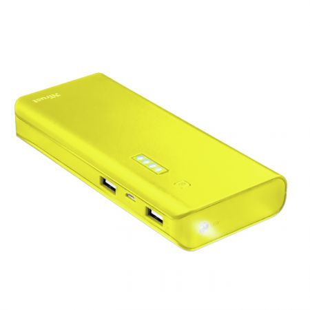 Portable Charger Trust Primo Powerbank 10 000 mAh Yellow